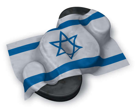 paragraph symbol and flag of israel - 3d rendering Stock Photo