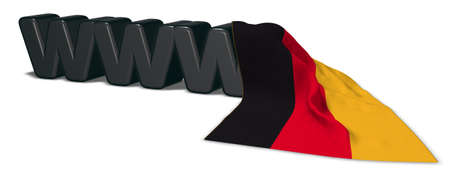 the letters www and german flag -3d rendering Stock Photo
