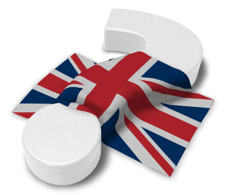 ireland flag: question mark and flag of the uk - 3d illustration