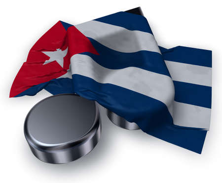 music note and flag of cuba - 3d rendering