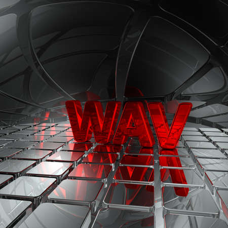 wav: wav tag in abstract futuristic space - 3d rendering Stock Photo