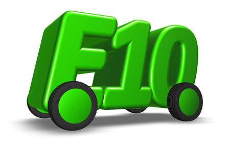 e10 on wheels - 3d illustration