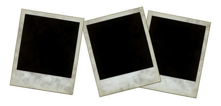 instant photo frames on white background Stock Photo