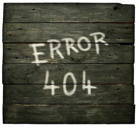 error 404 on old wooden planks