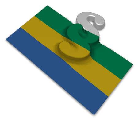 orden judicial: flag of gabon and paragraph symbol - 3d illustration
