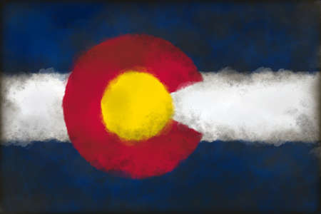abstract background illustration - flag of colorado