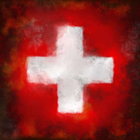 abstract background illustration - flag switzerland