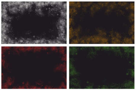 various abstract banner background frames on black background