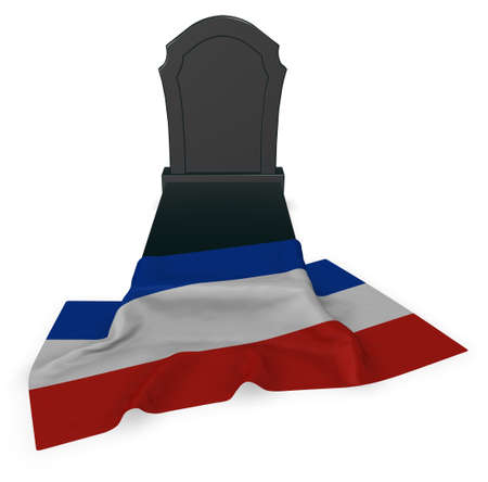 holstein: gravestone and flag of schleswig-holstein - 3d rendering Stock Photo