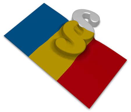 Absatz-Symbol und Flagge von Rumänien - 3D-Rendering Standard-Bild - 90806559