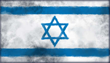 abstract background illustration - flag of israel