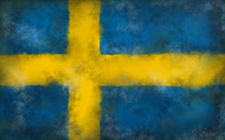 abstract background illustration - flag of sweden