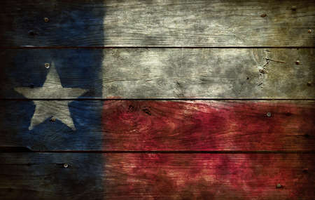 flag of texas on wooden background Stock Photo