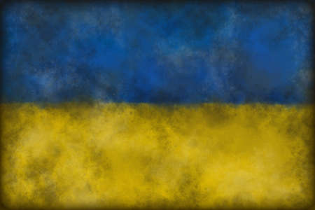 abstract background illustration - flag of the ukraine