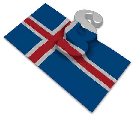 Absatz-Symbol und Flagge von Island - 3D-Rendering Standard-Bild - 91421020