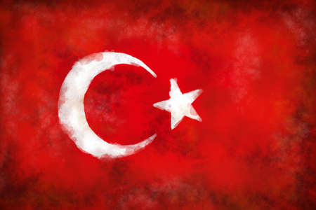 abstract background illustration - flag of turkey