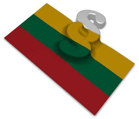Absatz-Symbol und Flagge von Litauen - 3D-Rendering Standard-Bild - 92614233