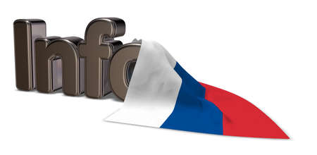 the word info and flag of russia - 3d rendering