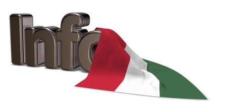 the word info and flag of hungary - 3d rendering