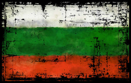 abstract background illustration - flag bulgaria Stock Photo