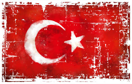 abstract background illustration - flag of turkey