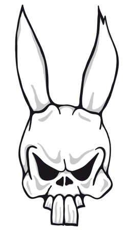 illustration of creepy easter bunny Stock Photo