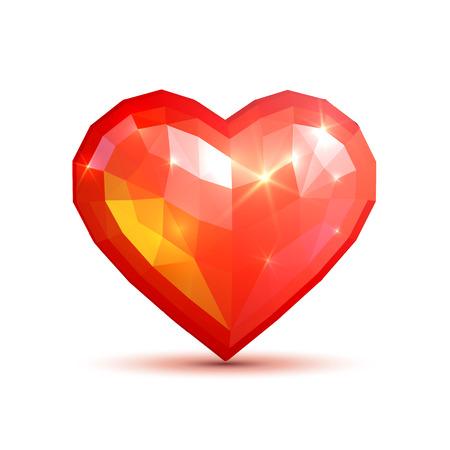 crystal heart: Beautiful heart crystal style Illustration