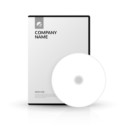 storage data product: Template for DVD Box and DVD-disc for company presentation