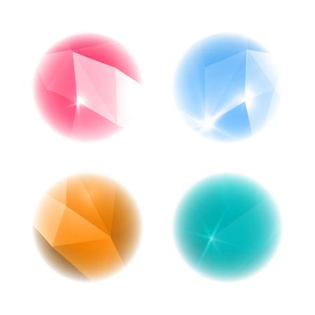 prognosticator: Crystal balls. Isolated on white background.