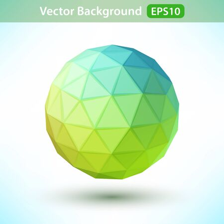 icosahedron: 3D geometric primitive volume figure on a light background