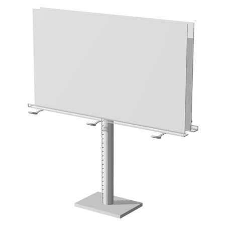 Advertising construction for outdoor advertising big billboard. Billboard for your design. Isolated on white background.