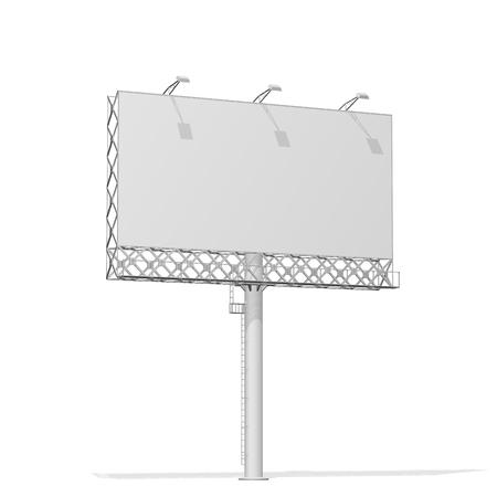 Advertising construction for outdoor advertising big street billboard. Billboard for your design.
