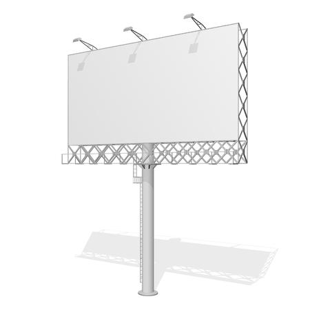 Advertising construction for outdoor advertising big billboard. Billboard for your design. Truss structure. Illustration