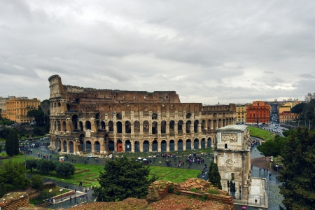constantine: Rome  Coliseum and the Arch of Constantine
