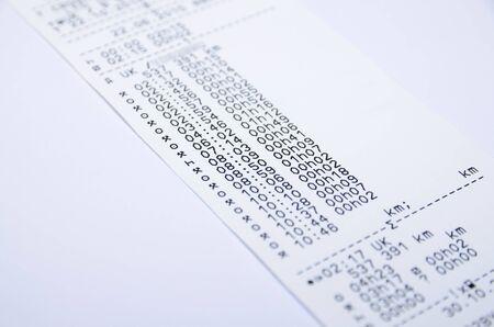 Digital tachograph printed day shift