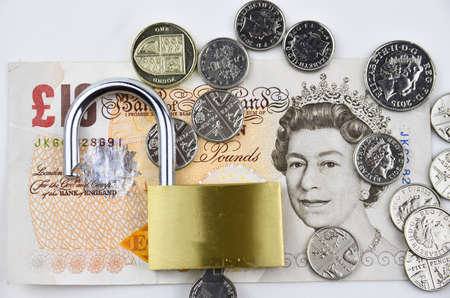 pounds: Image shows british pounds  can be safe or unsafe