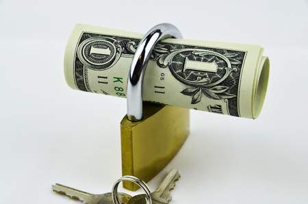 unsafe: Image shows dollars can be safe or unsafe Stock Photo