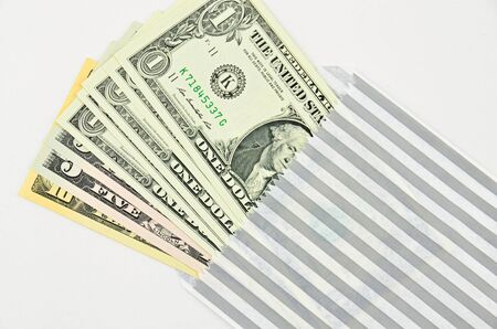 us dollars: US dollars in envelope is could be as a gift