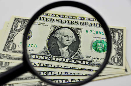 us dollars: us dollars view by magnifier