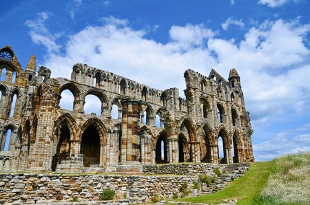 abbey ruins abbey: Ruins of the Abbey in Whitby UK