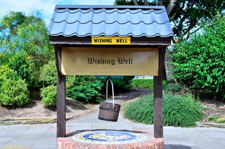 wishing: Wishing Well tourist  attraction point in Skegnes England