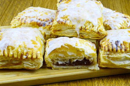 sugarcoated: Crisp puff pastry filled with jam sugar-coated