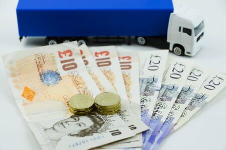 pay for: British pounds pay for driving a big lorry in UK