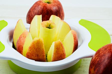 slicer: Apple cutter, apple slicer on white board