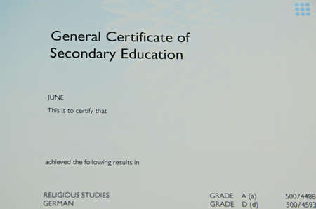secondary: General Certificate of Secondary Education