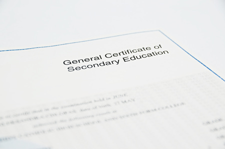 secondary education: General Certificate of Secondary Education
