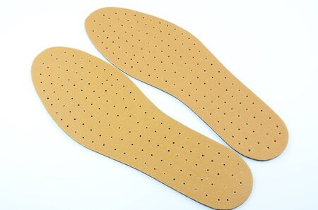 breathable: Brown leather shoe insoles provide additional comfort.
