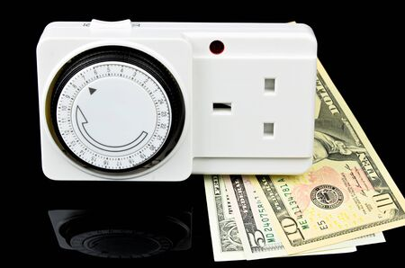 mains: Mains Timer Adapter with money. Way to save money