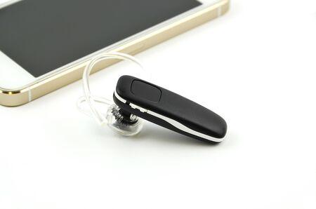 handsfree: Bluetooth handsfree - headset isolated on white background