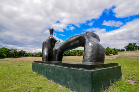 vital: Wakefield-England July-2016 Yorkshire Sculpture Park, Internationally exhibition in the UK, This Season: Not Vital, Editorial photo Editorial